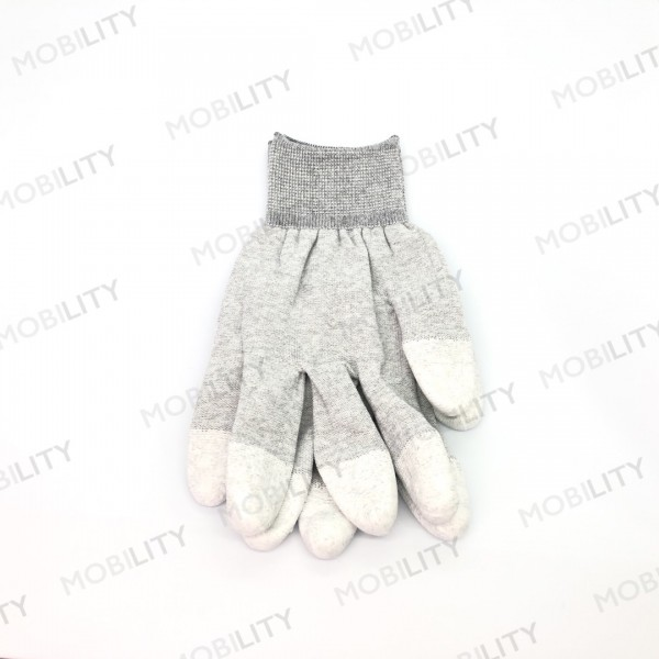 ESD Gloves All-Spec GL210-M Gray with Bel Nitrile....