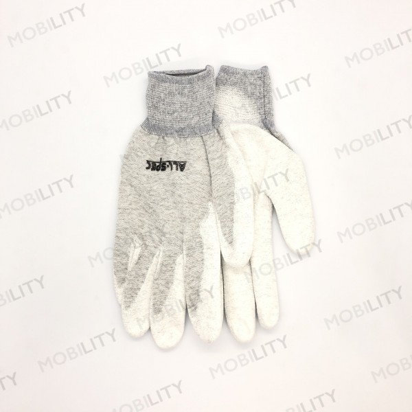 ESD Gloves All-Spec GL220-L Gray with White coated...